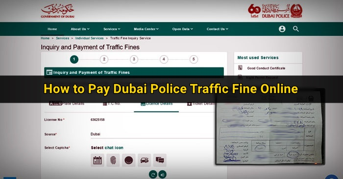 how to pay dubai police fine online