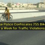 Dubai Police Confiscates 255 Bikes in a Week for Traffic Violations