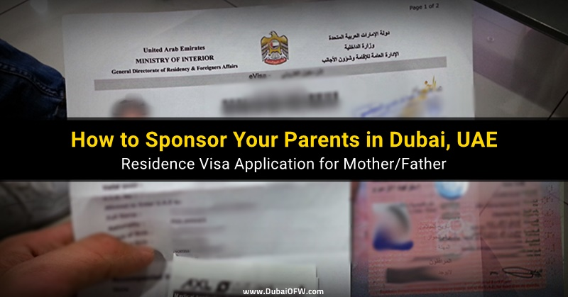 how to sponsor mother father uae