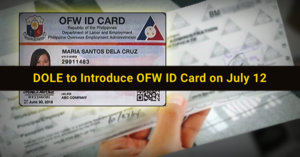 ofw id card for filipinos