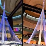 "Dubai Creek Tower ""Light & Sound Show"" at Dubai Mall"