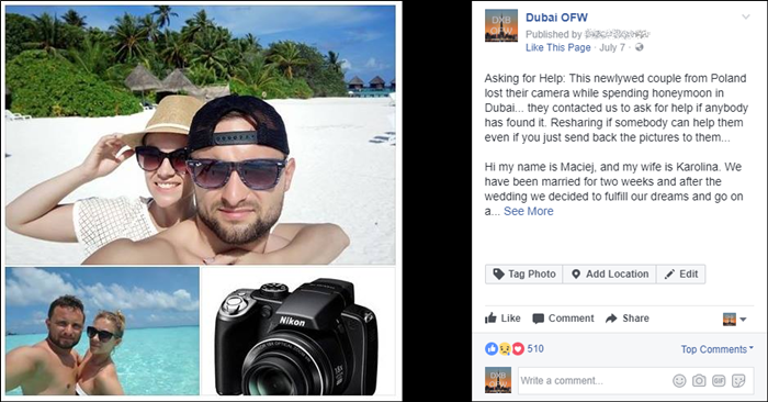 poland couple returned camera dubai