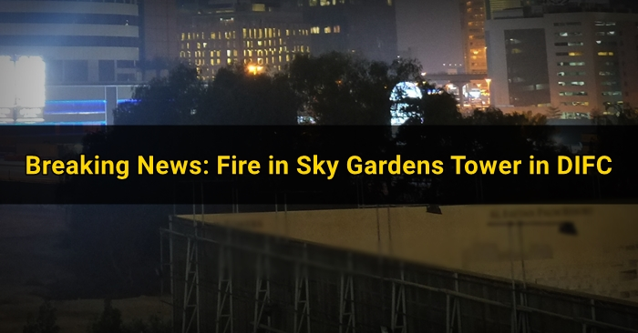 fire skygardens tower in difc
