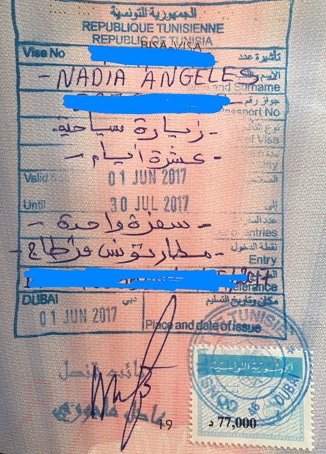 tunisia visa application dubai