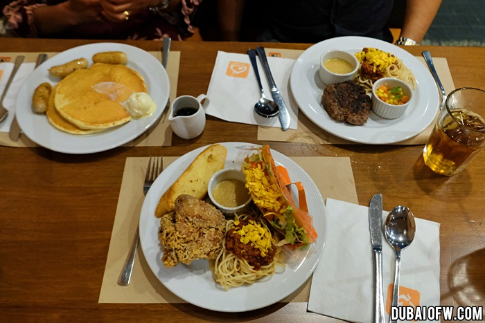 burjuman mall pancake house meals