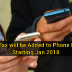 5% Tax will be Added to Phone Bills Starting Jan 2018