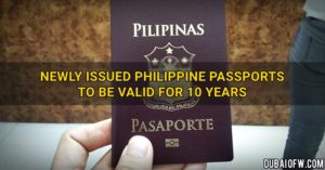 10 years passport validity philippines