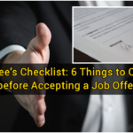 Employee's Checklist: 6 Things to Consider before Accepting a Job Offer