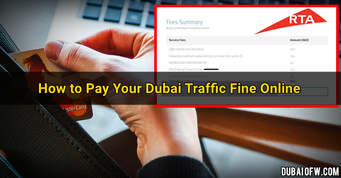 how to pay dubai traffic fines online RTA