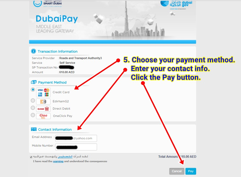 paying your dubai traffic fines online