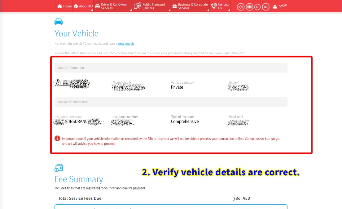 renew vehicle license online dubai
