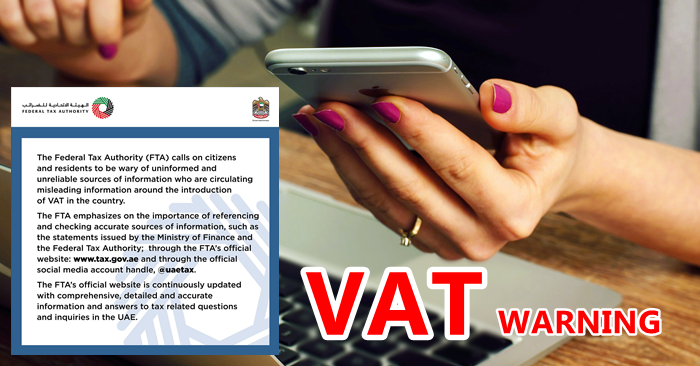 vat warning uae rumours