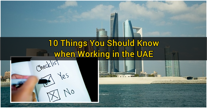 10 Things You Should Know When Working In The UAE