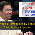 """OFW Handbook"" Proposed by Sen. Pacquiao Gets Senate Approval"