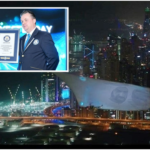 "UAE Sets New Record: ""World's Largest Aerial Projection Screen"""