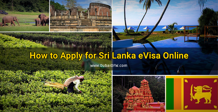 how to apply sri lanka evisa online