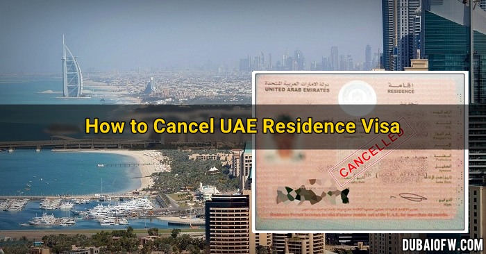 how to cancel uae residence visa