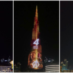 "The light shows marks the countdown to ""Avengers: Infinity War."" Image Credits: @MyDowntownDubai & @iShadi on Twitter"