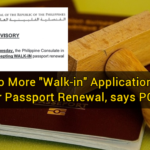 "No More ""Walk-in"" Applications for Passport Renewal, says PCG"