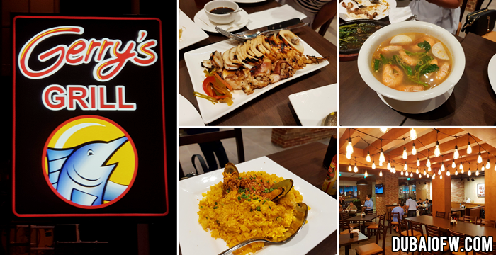 gerry's grill filipino restaurant in dubai