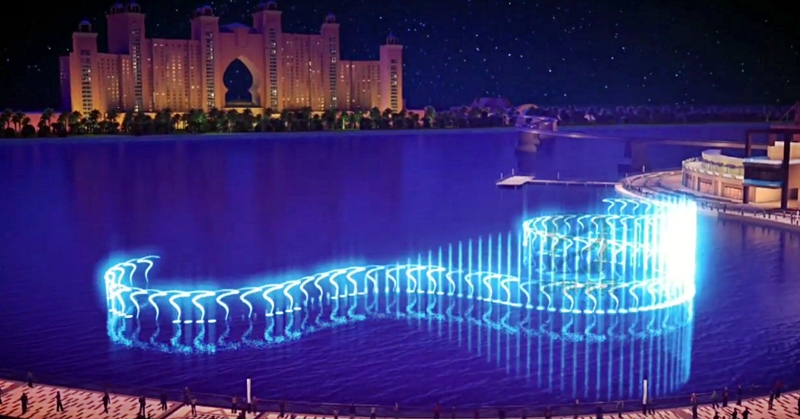 palm jumeirah dancing fountain