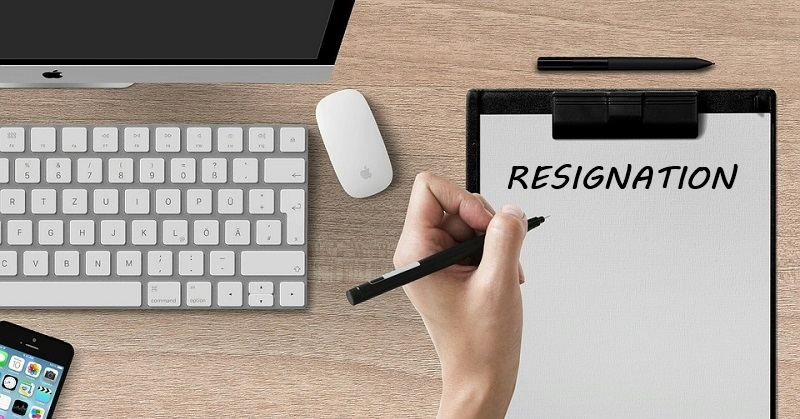 resigning from your job