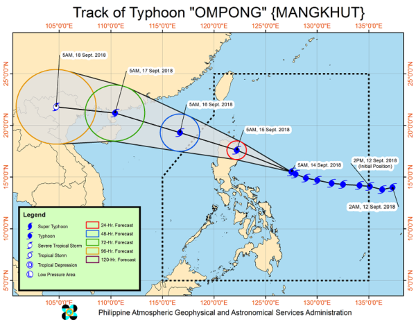 typhoon ompong closes in