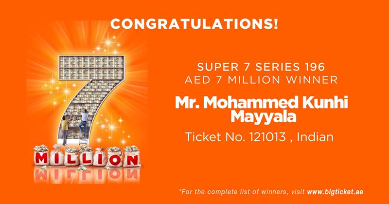 Indian Wins 7 Million Dirhams in Big Ticket Abu Dhabi Raffle