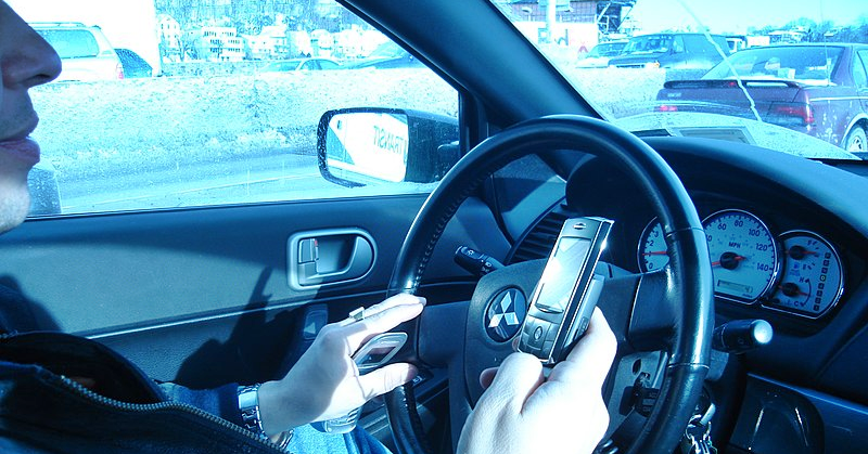 Doing this on your Phone could get you an AED 800 Fine and Four Black Points
