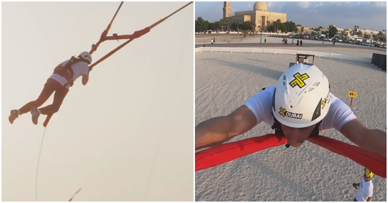 Dubai Royal Tries Out Human Slingshot Ride at Kite Beach 7