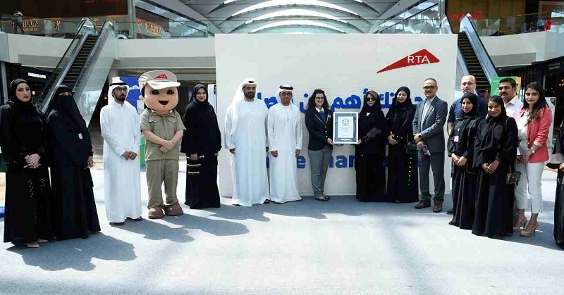 Dubai Sets Record for World's Biggest Awareness Message 1