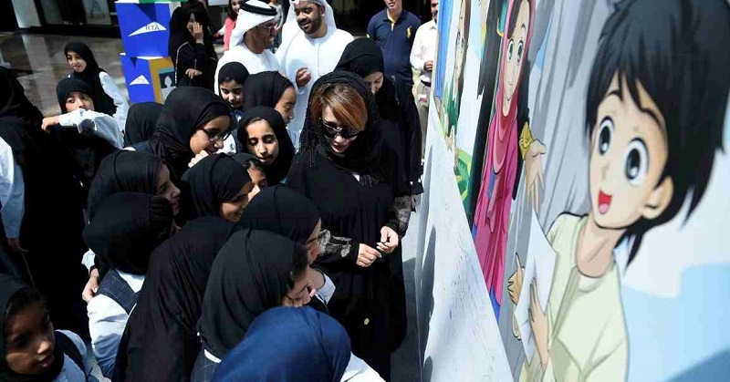 Dubai Sets Record for World's Biggest Awareness Message 3