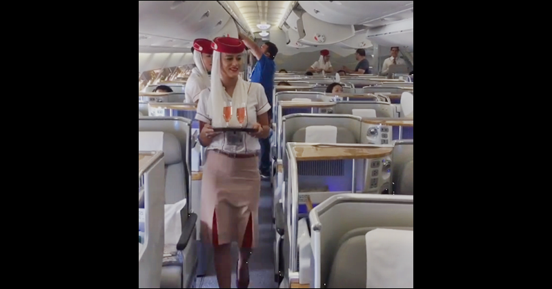 WATCH: Emirates Flight Attendant Gives her Mother a Mid-flight Birthday Surprise