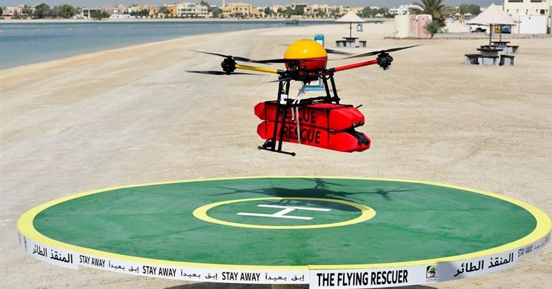 dubai flying rescuer drone 1