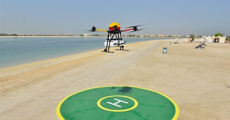 dubai flying rescuer drone 2