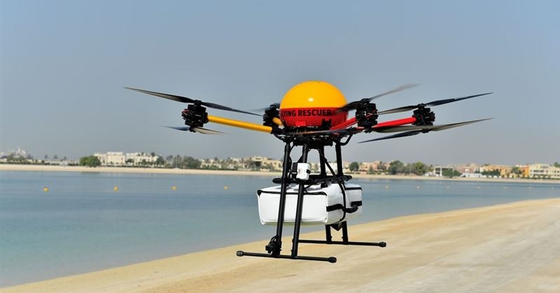 dubai flying rescuer drone 3