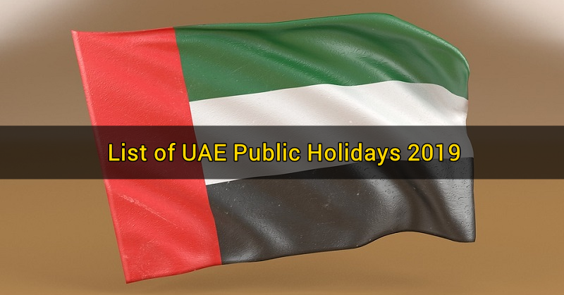 List of UAE Public Holidays 2019 b
