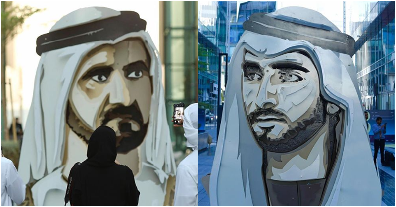 wo Dubai Leaders Merged into One 3D Artwork