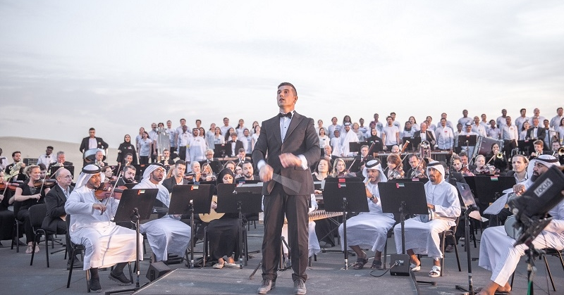 WATCH Multinational Orchestra Performs UAE Anthem in the Desert 1