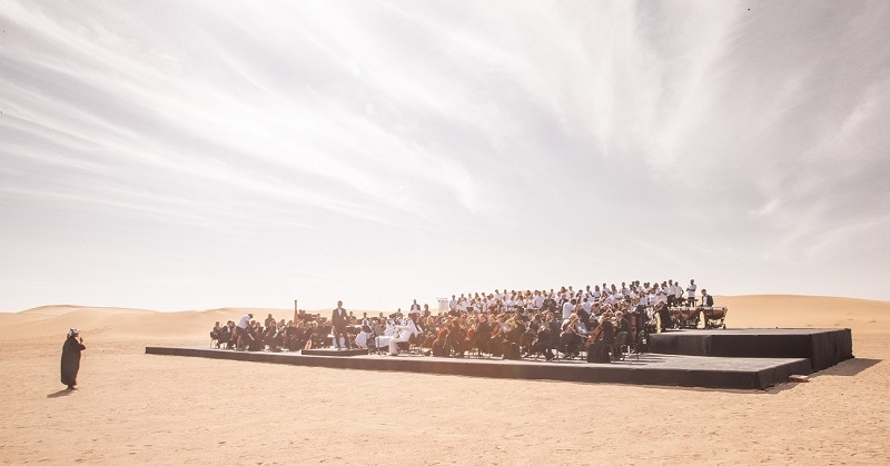 WATCH Multinational Orchestra Performs UAE Anthem in the Desert 2