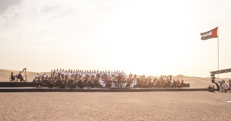 WATCH Multinational Orchestra Performs UAE Anthem in the Desert 3