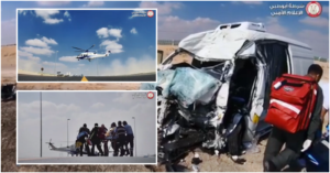 [WATCH] Man Airlifted After Major Collision on UAE Road