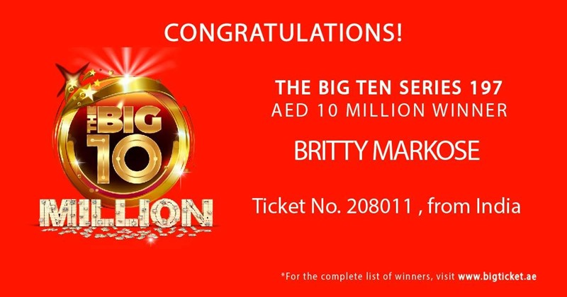 big ticket abu dhabi britty markose