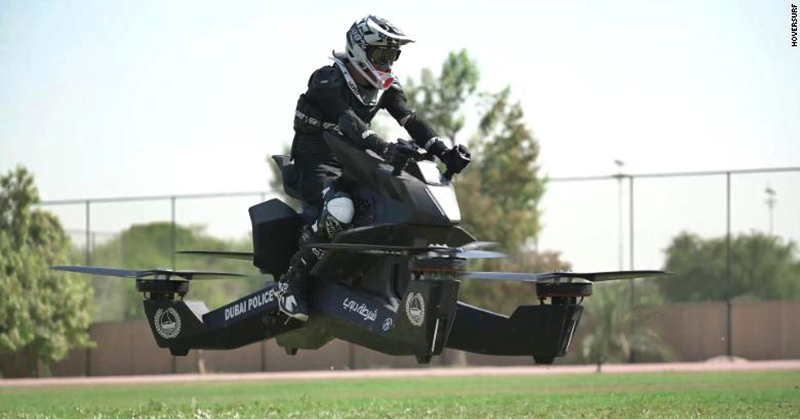 [WATCH] Dubai Police Soon to Patrol the Skies on 'Flying Motorcycles'