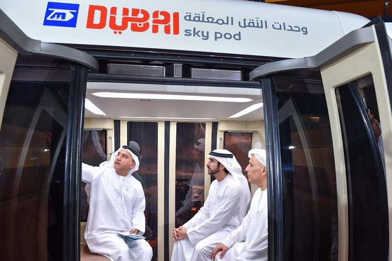 Crown Prince Hamdan Inspects Dubai's Sky Pods 2