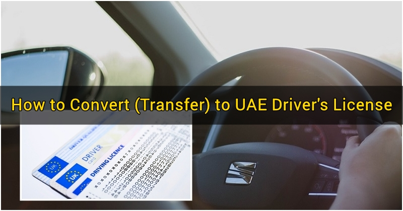 How to Convert (Transfer) License to a UAE Driver's License