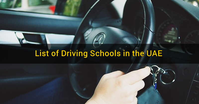 List of Driving Schools in the UAE