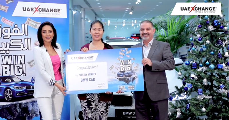 Pinay Housemaid Wins a BMW in UAE Raffle