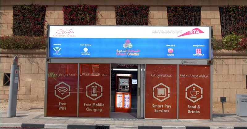 RTA Builds 58 Air-conditioned Bus Shelters Pilots Solar-powered Shelters 3