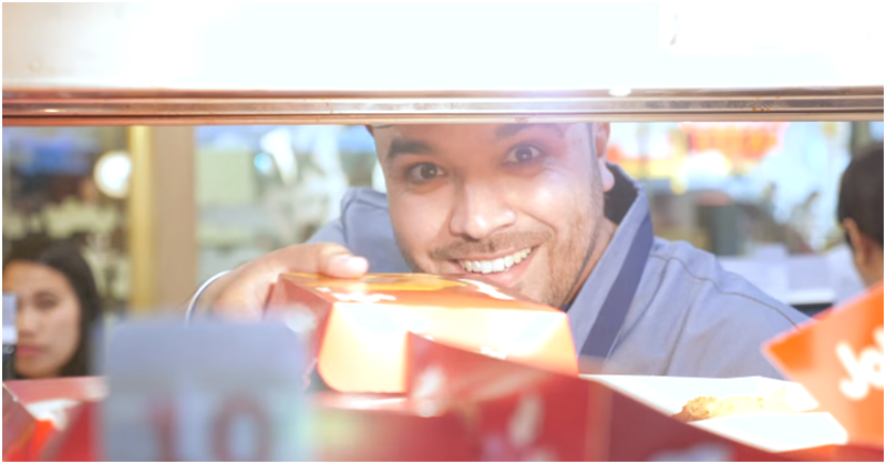 WATCH Khalid Al Ameri Serves Free Meals at Jollibee UAE 3